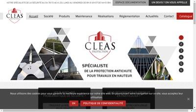 Site internet de Cleas Protection