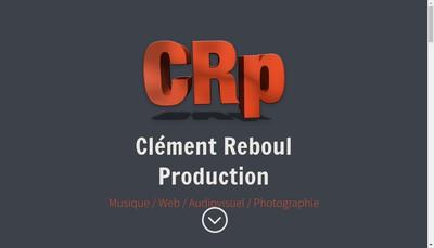Site internet de Clement Reboul Production