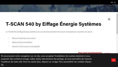 Site internet de Eiffage Energie Systemes - Clemessy