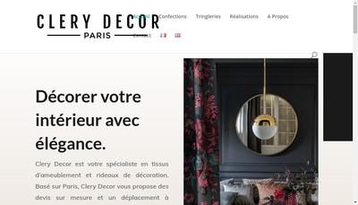 Site internet de Clery Decor