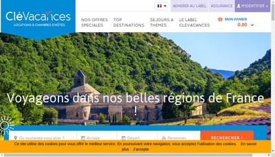 Site internet de Clevacances France