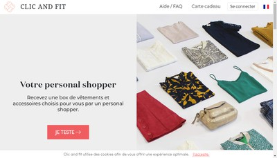 Site internet de Clic And Fit