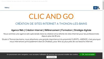 Site internet de Clicandgo