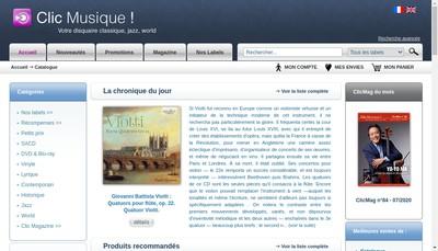 Site internet de Distrart Musique