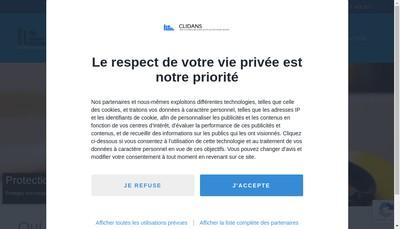 Site internet de Clidans