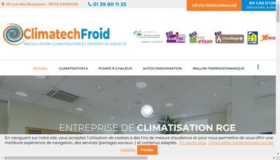 Site internet de Climatech Froid