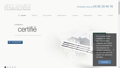 Site internet de Aclimax