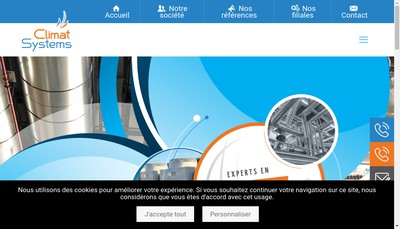 Site internet de Climat Systems