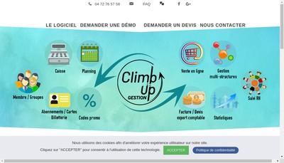 Site internet de Climb Up Gestion