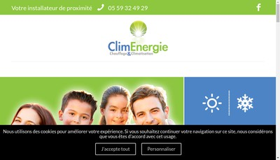 Site internet de Clim Energie