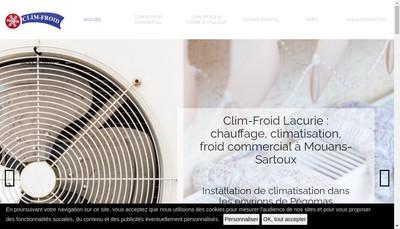 Site internet de Clim Froid