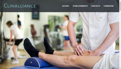 Site internet de Clinalliance Fontenay