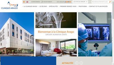 Site internet de Clinique Villa Arago