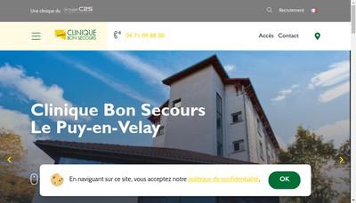 Site internet de Clinique Bon Secours