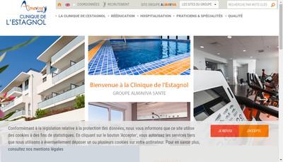 Site internet de Clinique de l'Estagnol