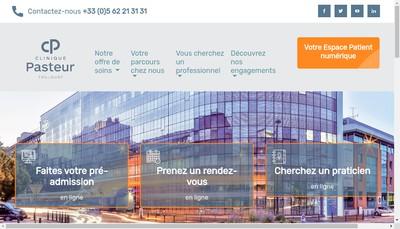 Site internet de Clinique Pasteur