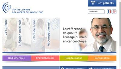 Site internet de Centre de Cancerologie de la Porte de Saint Cloud