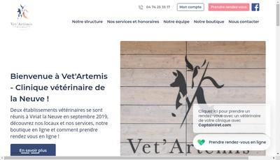 Site internet de Vet'Artemis