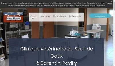 Site internet de SELARL Clinique Veterinaire du Seuil de Caux
