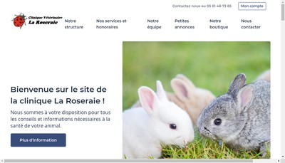 Site internet de Clinique Veterinaire la Roseraie