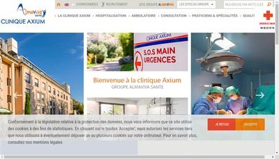 Site internet de Clinique Axium