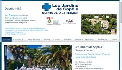 Site internet de Les Jardins de Sophia