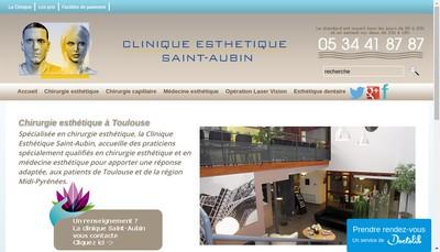 Site internet de Clinique Saint-Aubin