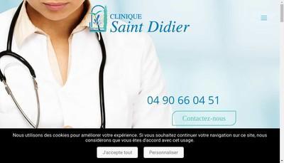 Site internet de Clinique Saint Didier