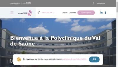Site internet de Polyclinique du Val de Saone
