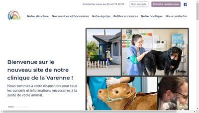 Site internet de Clinique Veterinaire de la Varenne