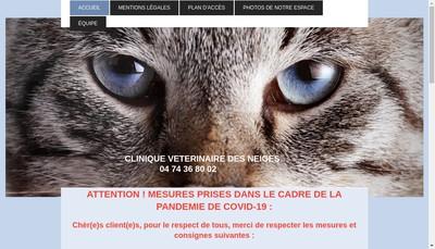 Site internet de Clinique Veterinaire des Neiges