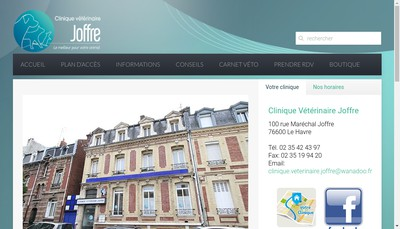 Site internet de Clinique Veterinaire Joffre