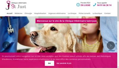 Site internet de Clinique Veterinaire de Saint Just
