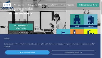 Site internet de Clinitex Grand Lille Nord