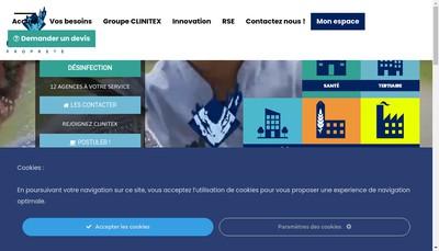 Site internet de Clinitex Sambre Hainaut
