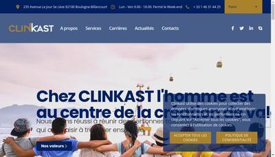 Site internet de Clinkast