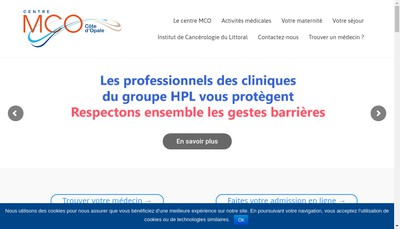 Site internet de Centre Medical Chirurgical Obstetrical Cote d'Opale