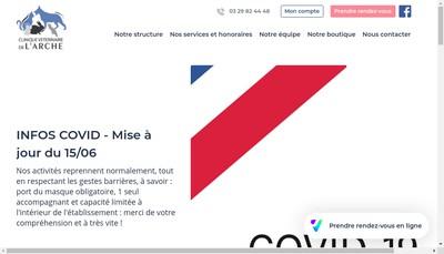 Site internet de Clinique Veterinaire de l'Arche