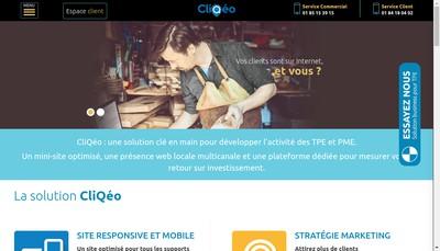 Site internet de Cliqeo