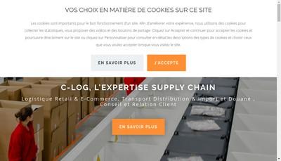 Site internet de C-Log Solutions