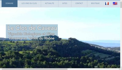 Site internet de Clos de Caveau Selection