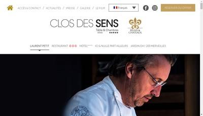 Site internet de Le Clos des Sens