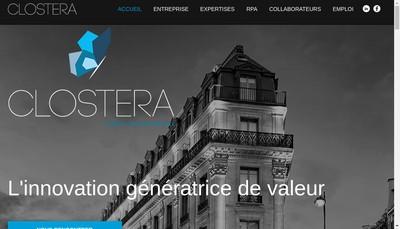 Site internet de Clostera