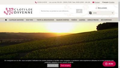 Site internet de Clotilde Davenne
