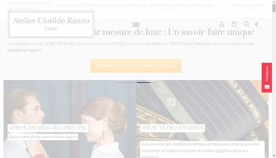 Site internet de Clotilde Ranno SAS