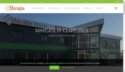 Site internet de Clotures Marsigglia
