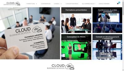 Site internet de Cloud Business School