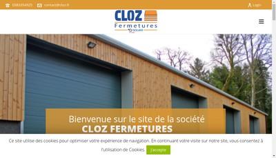 Site internet de Cloz Fermetures