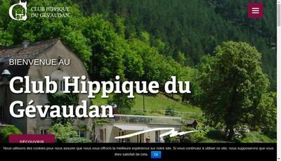 Site internet de Club Hippique du Gevaudan