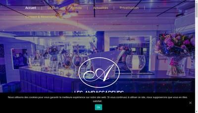Site internet de Les Ambassadeurs